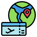 Globe Ticket Pin Icon
