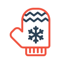 Gloves Christmas Cold Icon