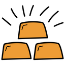 Gold Bars Gold Bricks Gold Ingots Icon