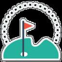 Golf Court Hotel Icon