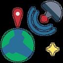 Gps Position Coordinates Icon