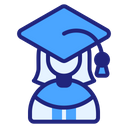Graduate Woman Woman Graduated Icon