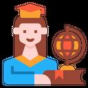 Graduated Girl Icon