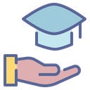 Mortarboard Hat Cat Icon