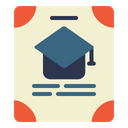 Graduation Certificate Icon