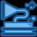 Gramphone Triangle Shape Icon