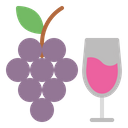 Grapes Drink Icon