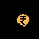 Graph Money Indian Icon