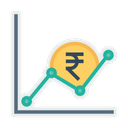 Graph Money Indian Icon