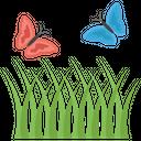 Grass Fields Greenery Icon