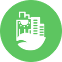 Green Building Smart Icon