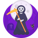 Halloween Grim Reaper Scary Icon