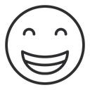 Artboard Grinning Face With Smiling Eyes Happy Icon