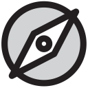Group Compass Direction Icon