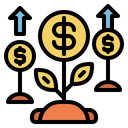 Growing Money Plant Growing Plant Growing Icon