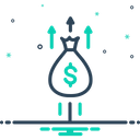 Growth Money Bag Riches Icon