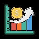 Growth Dollar Chart Icon