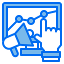 Technology Growth Graph Strategy Icon