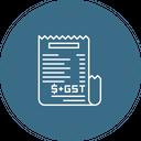 Gst Bill Tax Icon