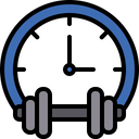 Gym Time Gym Hour Workout Hour Icon