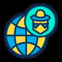 Hacker Globe Icon