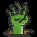 Halloween Zombie Hand Icon
