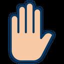 Palm Gesture Icon