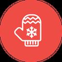 Hand Gloves Snowflake Icon