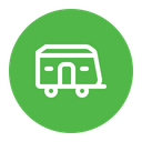 Hand Home Truck Icon