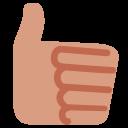 Hand Medium Light Icon