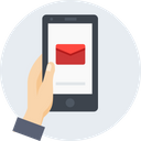 Hand Mobile Mail Icon