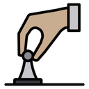 Hand moving pawn Icon