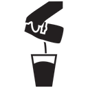 Hand Pouring Milk Icon