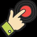 Click Hand Tap Mobile Tap Icon