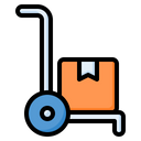 Hand Truck Trolley Delivery Icon