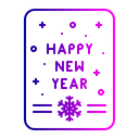 Happy New Year Icon