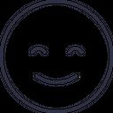 Happy Emoji Outline Icon
