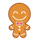 Happy Face Gingerbread Icon