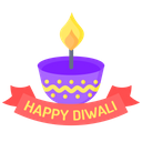 A A Happy Diwali Diwali Lamp Icon