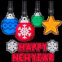 Happy Newyear Greeting Icon