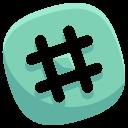 Hashtag Social Media Icon