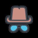 Hat Cap Glass Icon