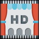 Hd Film Video Player Multimedia Option Entertainment Movie Icon