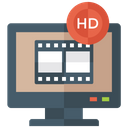 Hd Movie Home Entertainment Leisure Activity Icon
