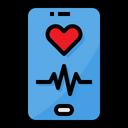 Heart Rate Smartphone Romantic Icon