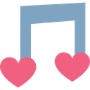 Heart Love Song Melody Icon