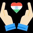 Heart Hand Care Icon