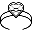 Heart Band Heart Symbol Fashionwear Icon