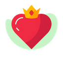 Heart Crown Icon