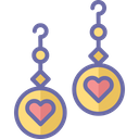 Heart earrings Icon